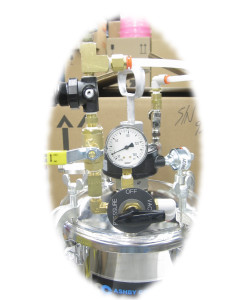 Vacuum tanks include necessary valves, gauges, regulators and an agitator